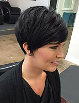 Perfect Fluffy Black Short Hair Human Hair Wig Suitable For All Kinds Of People