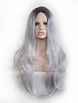 Natural Wigs Wigs for Women Costume Wigs Cosplay Wigs Black/gray wave wig