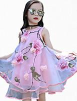 Vestido Chica de Deportes Floral Estampado Poliéster Sin Mangas Verano Todas las Temporadas Primavera