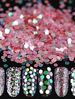 10ml/box Schimmer Nagel Puder Nail Pulver Glitter 1mm/2mm/3mm Flitter Dekor
