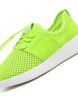 Светло-серый Зеленый Розовый-Для мужчин-Для прогулок Повседневный-Тюль-На низком каблуке-Удобная обувь Светодиодные подошвы-Кеды