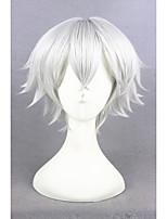 blanc court d'argent le royaume de sommeil et 100 princes perruque cosplay anime 12inch synthétique cs-273c