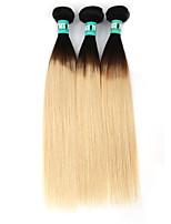 Âmbar Cabelo Malaio Retas 3 Peças tece cabelo