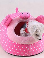 Кошка Собака Кровати Животные Коврики и подушки Мультипликация Мягкий Красный Зеленый Розовый