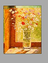 Hand Painted Oil Painting Impression Flowers Painting Wall Art with Stretched Framed Ready to Hang