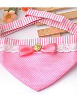 Chien Bandanas & Chapeaux Vêtements pour Chien Printemps/Automne Tartan Mignon Café Rouge Rose Rose