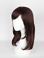 Cosplay Wigs Overwatch Cosplay Brown Medium Anime Cosplay Wigs 55 CM Heat Resistant Fiber