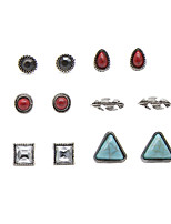 Stud Earrings Euramerican Vintage Alloy Geometric Jewelry For Party Daily 1set