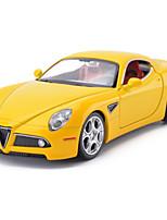 Voiture de Course Véhicules à Friction Arrière Jouets de voiture 1:28 Métal Rouge Jaune Argenté Maquette & Jeu de Construction