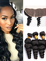 One Pack Solution Cheveux Malaisiens Ondulation Lâche 12 mois 5 Pièces tissages de cheveux
