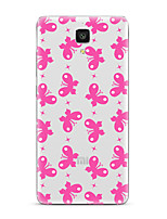 For  Xiaomi  Mi 4  Mi 5Transparent Pattern Case Back Cover Case Butterfly Soft TPU for  Mi 5s Plus  Mi 5s Mi 4s Mi 3