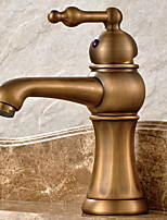 Art Deco/Retro Centerset Sensor with  Ceramic Valve Single Handle One Hole for  Antique Copper , Bathroom Sink Faucet