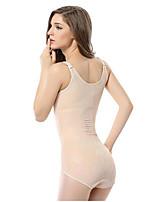 Damen Korsett-Kleider Nachtwäsche,Push-Up Spitze einfarbig-Nylon Dünn Damen