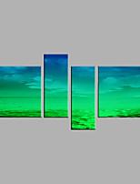 Ручная роспись Абстракция Горизонтальная,Modern 2 панели Холст Hang-роспись маслом For Украшение дома