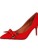 Черный Серый Красный Зеленый Розовый-Для женщин-Для офиса Для праздника-Дерматин-На шпильке-Удобная обувь-Обувь на каблуках