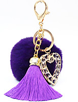Key Chain Circular Heart-Shaped Key Chain Navy Blue Red Black White Gray Purple Metal