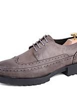 Черный Серый-Для мужчин-Свадьба Для офиса Повседневный Для вечеринки / ужина-Кожа-На низком каблуке-Криперы Гладиаторы Баллок обувь