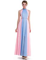 SUOQI Plus Size Women Round Neck Sleeveless Strapless Mixed Colors Lace Mesh Large Swing Dress Beach Holiday Party Dress