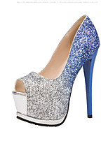 Women's Sexy Heels Spring Summer Comfort  Wedding Dress Stiletto Heel Sequin Walking Shoes