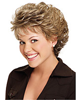 Synthetic Wigs Natural Cheap Blonde Color Heat Resistant Short Curly Wigs For Black Women