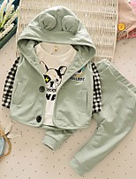 Boys' Casual/Daily Sports Solid Sets,Cotton Spring Fall Clothing Set