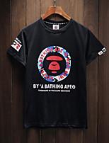 Gezeitenmarke in Europa und Amerika Männer und Frauen Paare beiläufiges runder Ansatz Kurzhülse T-Shirt
