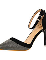 Mujer-Tacón Stiletto-Confort-Tacones-Vestido-Cuero-Dorado Negro Plata Azul Rosa