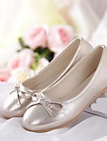 Золотой Серебряный Розовый-Девочки-Повседневный-Полиуретан-На плоской подошве-Удобная обувь-На плокой подошве