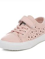 Черный Розовый-Девочки-Для прогулок Повседневный-Полиуретан-На плоской подошве-Удобная обувь-Кеды