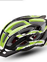 Sports Unisex Bike Helmet 24 Vents Cycling Cycling One Size PC Green Black