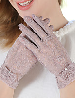 Cotton Lace Fingertips Wrist Length,Patchwork Cute Party Work Casual All Seasons