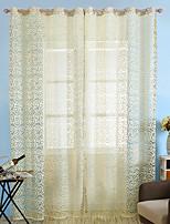 Jeden panel Window Léčba Evropský Země Neoklasika Středomořský Rococo Obývací pokoj Polyester Materiál Sheer Záclony Shades Home dekorace