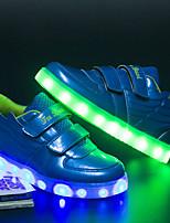 Черный Красный Синий-Мальчики-Повседневный-Лакированная кожа-На плоской подошве-Light Up обувь Светящийся обуви-Кеды