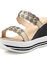 Women's Slippers & Flip-Flops Summer Fall Slingback Microfibre Dress Casual Wedge Heel Bowknot