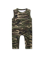 Baby Kids One-Pieces Cotton Summer Vest Siamese Sleeveless Girl Clothing Boy Clothes