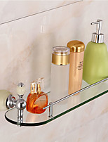 Bathroom Accessory Set / Ti-PVDBrass Glass
