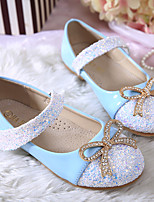 Girls' Flats Spring Summer Ballerina PU Dress Casual Flat Heel Sequin