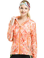 LEIBINDI® Women's Outdoor Sport Summer Jacket Hiking Running Jacket Breathable Windproof Ultraviolet Resistant Sun Protective Sunscreen Jacket