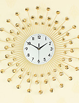 Creative Fashion Golden Metal Mute Wall Clocks