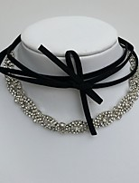 Necklace Choker Necklaces Jewelry Wedding Party Special Occasion Daily Basic Design Rhinestone 1pc Gift Silver