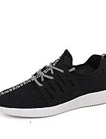 Da uomo Sneakers Comoda Tulle Primavera Estate Sportivo Casual Corsa Comoda Lacci Piatto Bianco Nero Blu Piatto