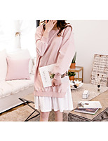 Nuisette & Culottes Chemises & Blouses Vêtement de nuit Femme,Push-up Couleur Pleine-Moyen Coton Aux femmes
