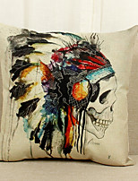 1 Pcs   Skull Pattern  Decorative Pillow Cover