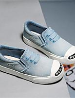 Темно-синий Светло-синий-Девочки-Для прогулок Повседневный-Деним-На плоской подошве-Удобная обувь-Кеды