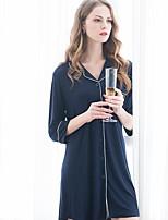 Women's Suits Nightwear Solid-Medium Modal Women's