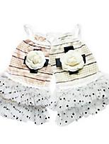 Chien Robe Vêtements pour Chien Eté Princesse Mignon Mode Décontracté / Quotidien Jaune Rose