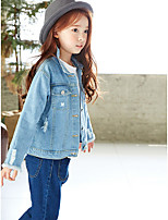 Girl's Going out Solid Suit & Blazer,Cotton Winter Spring Long Sleeve