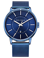 Men's Fashion Watch Quartz Stainless Steel Band Casual Black Silver Gold Navy