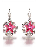 2017 New Popular Crystal Rhinestone Star Earrings Jewelry  Fashion Wedding Party Accessories