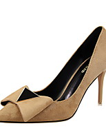 Women's Heels Spring Fall Comfort Suede Dress Stiletto Heel Bowknot